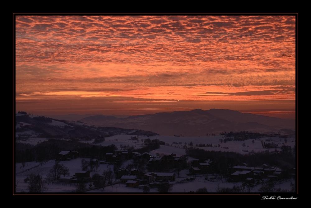 ..tramonto .nelle terre Matildiche!!