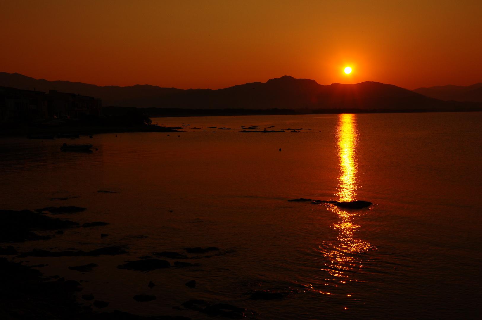 "tramonto ""sa pedra ruja"""
