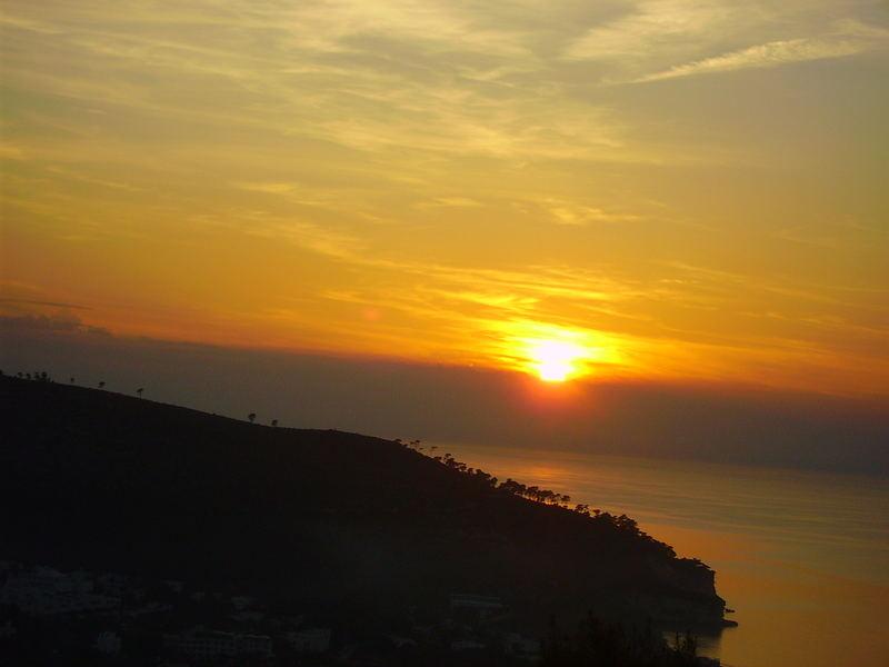 tramonto su vieste