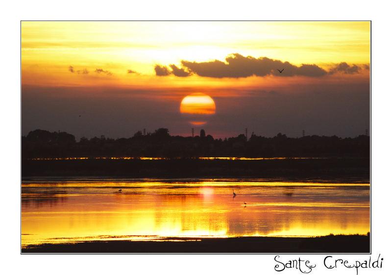 Tramonto sul delta del Po (Rovigo)