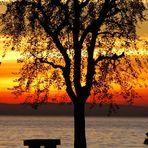 tramonto sul garda
