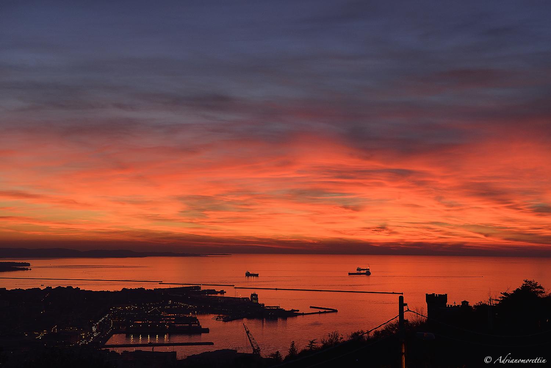 tramonto sul Golfo di Trieste