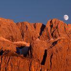 tramonto sul gruppo del Sella