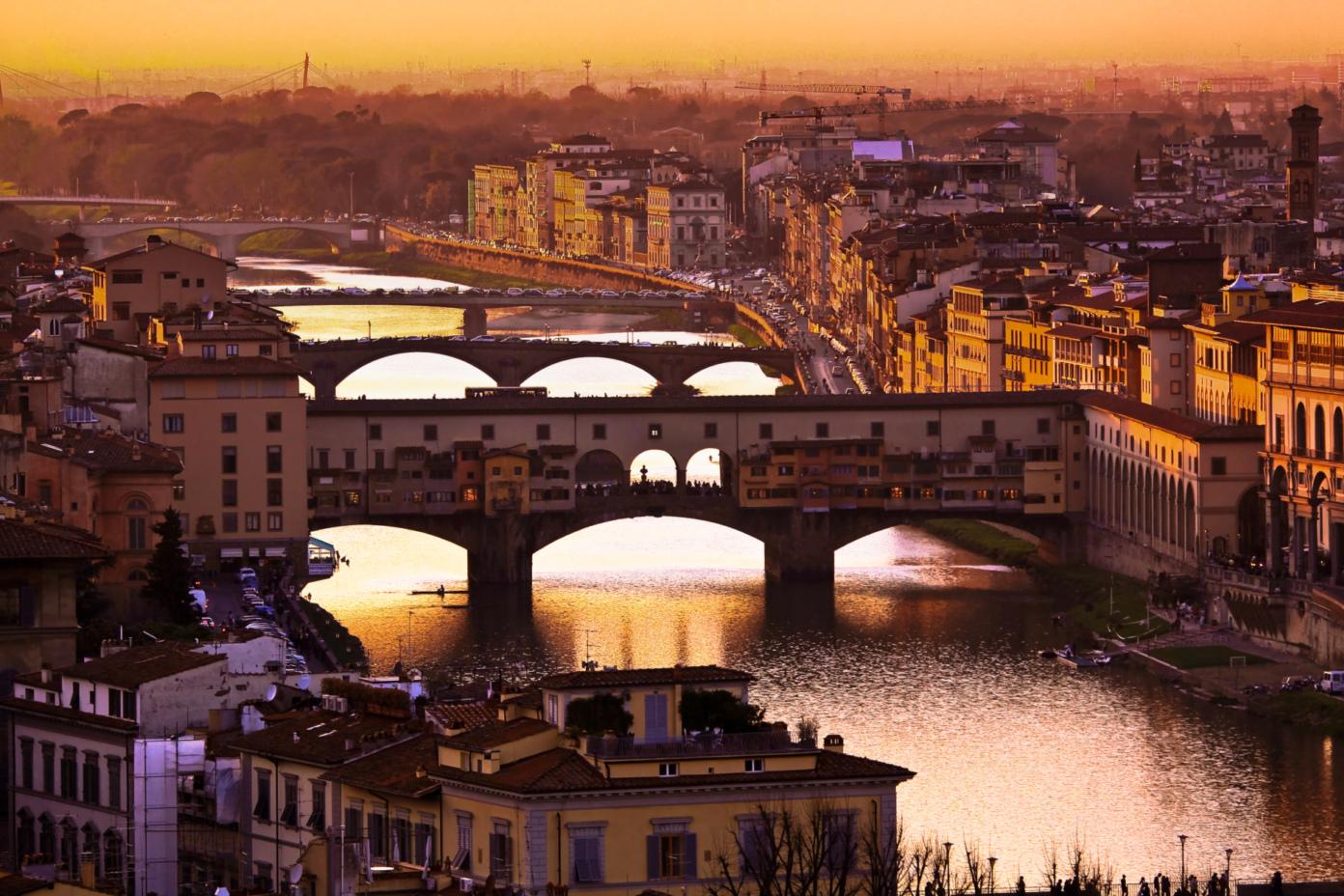 Tramonto sul Ponte Vecchio