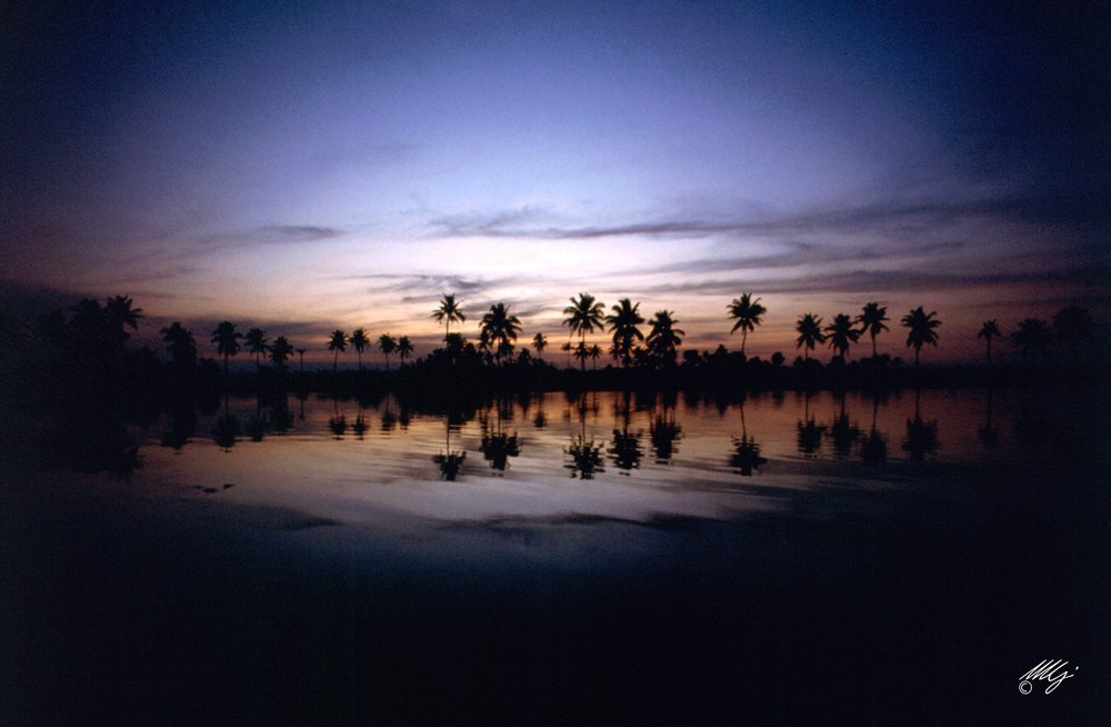 tramonto sulle Backwaters