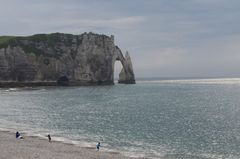 Tramonto sulle falesie di Etretat, Normandia, F.