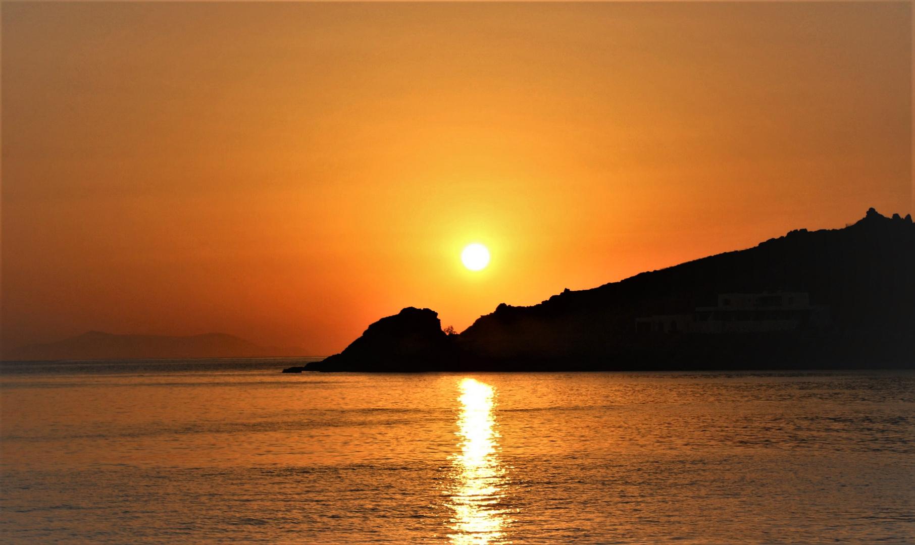 Tramonto sull'Isola di Tinos