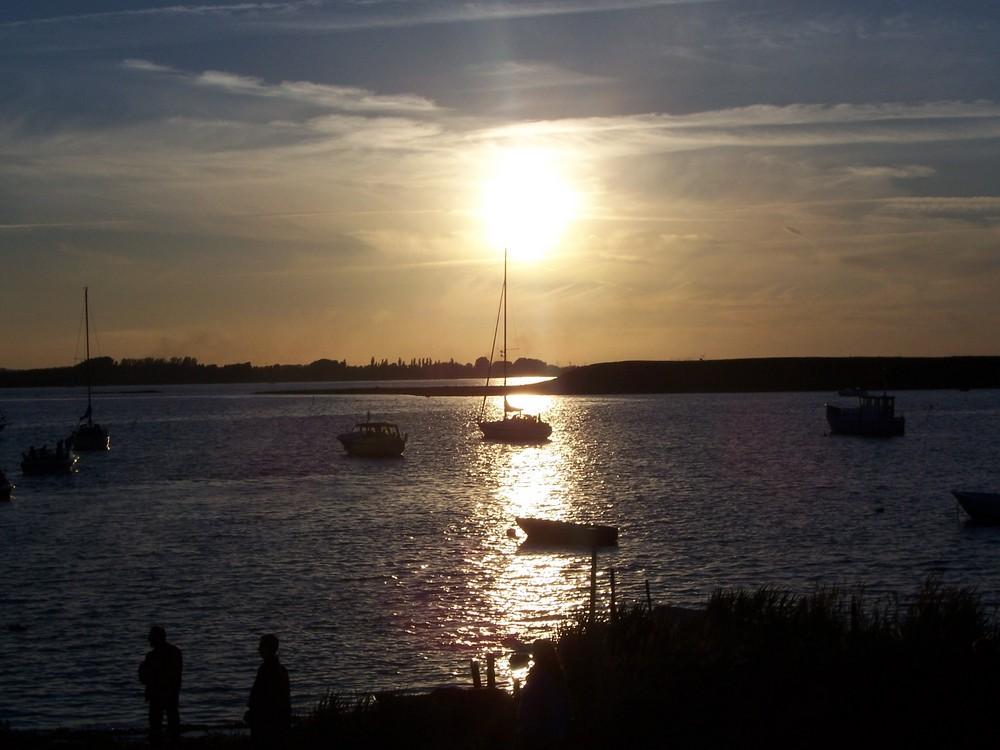 tramonto tra i fiordi della Danimarca