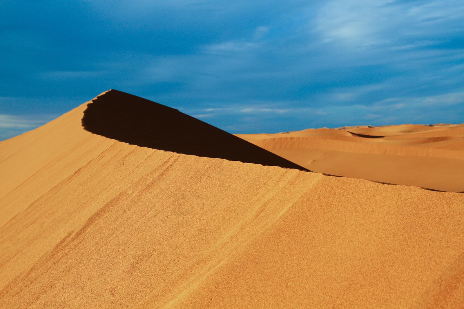 Tramonto tra le dune di Chegaga