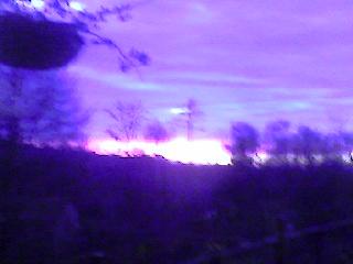 tramonto visto dalla mia casa