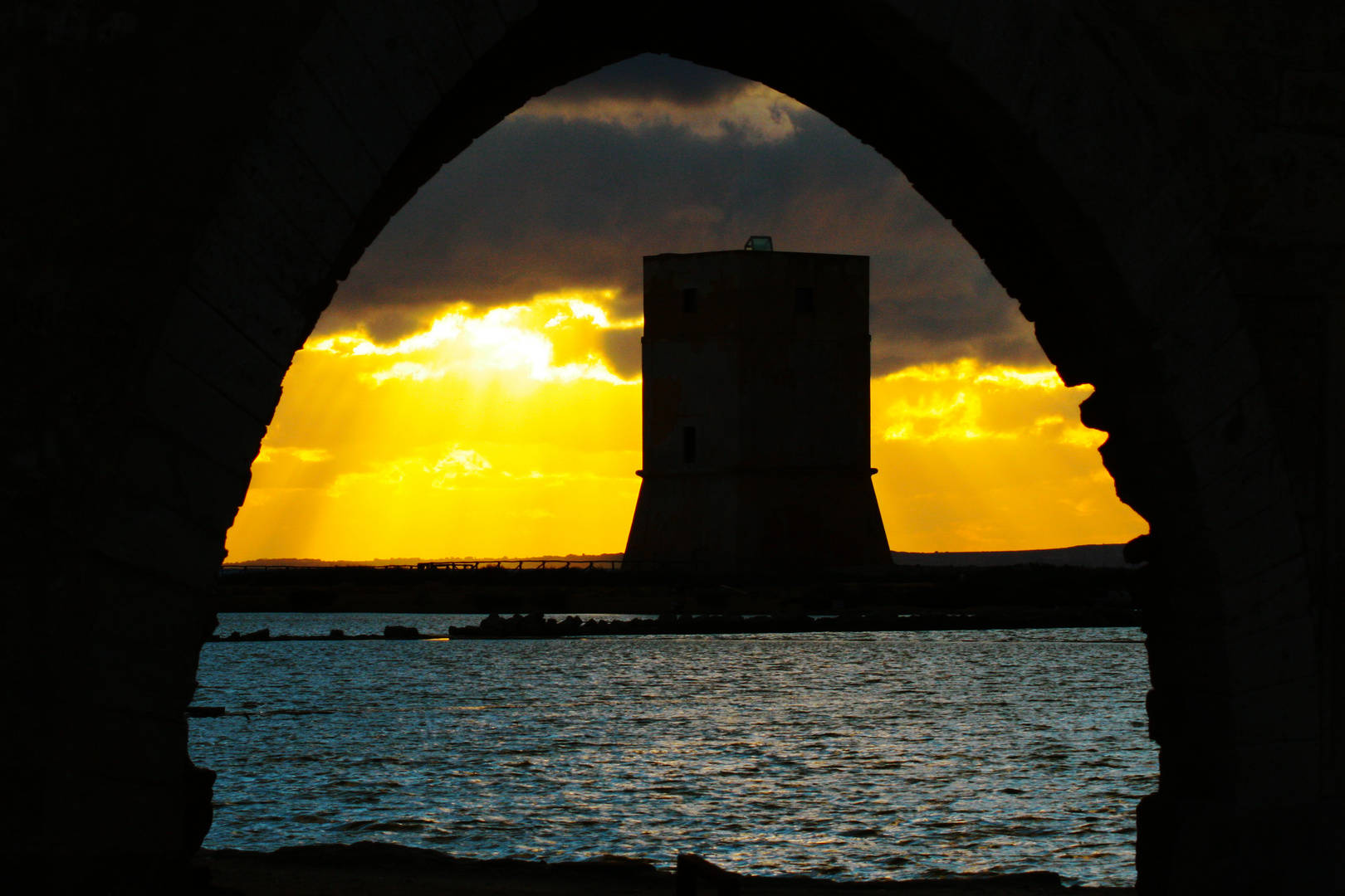 Tramonto...nell'arco