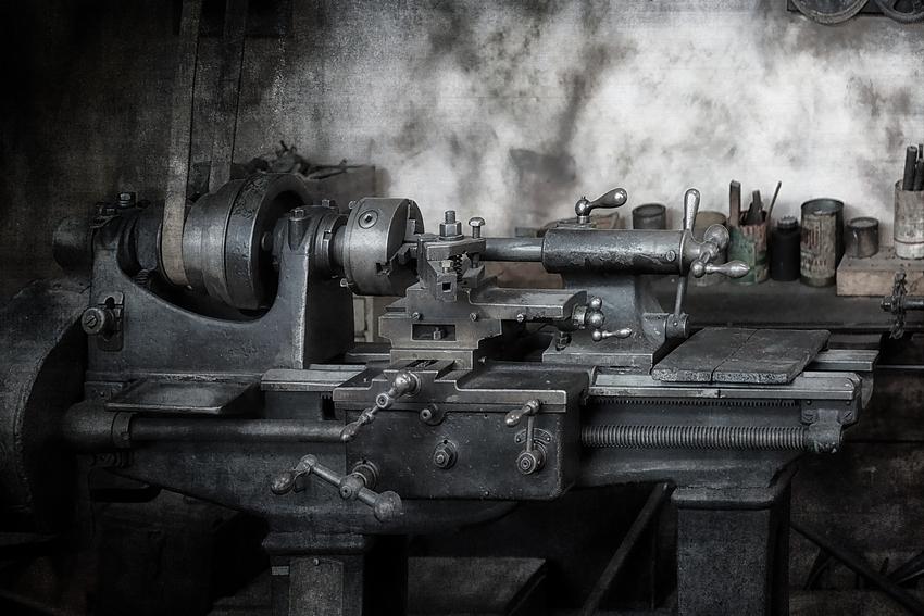 Transmissionsangetriebene Drehbank Foto & Bild   industrie und ...