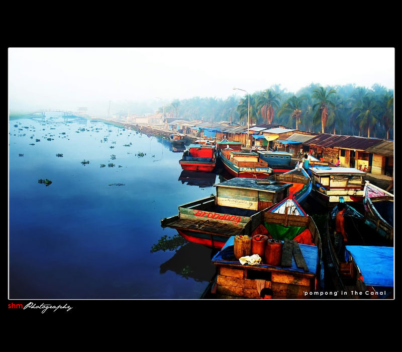 Transport mode on the canal, some village at Riau-Indonesia