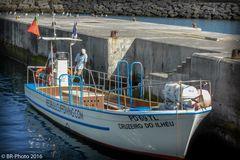 Transportboot zwischen Hafen und Insel Ilhéu de Vila Franca do Campo