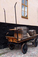 Transportkutsche 19 Jahrhundert im Skansen Park Stockholm