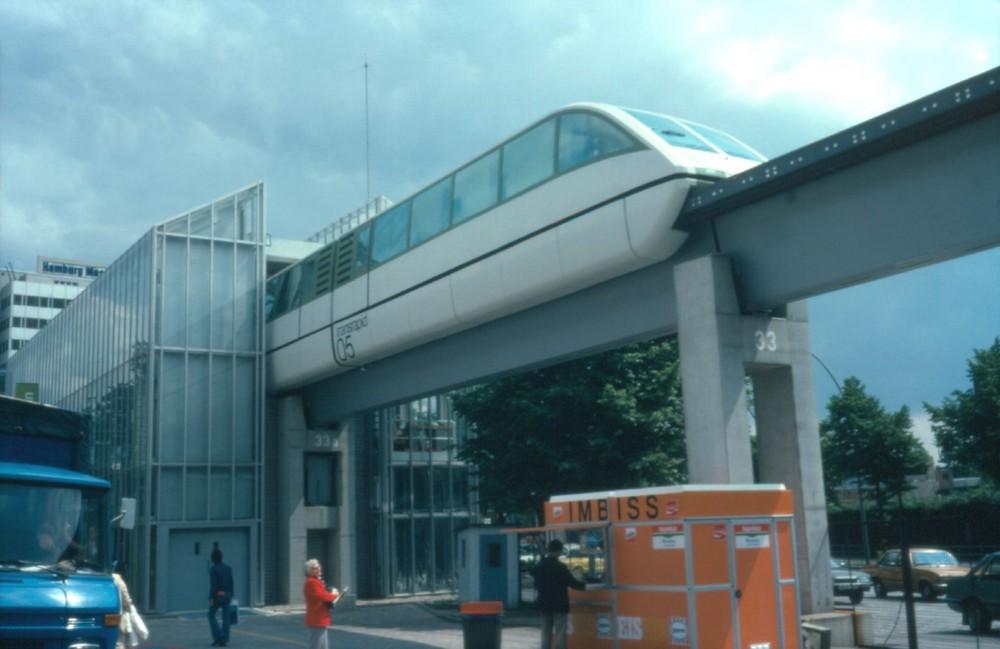 Transrapid 05 auf der IVA in Hamburg 1979
