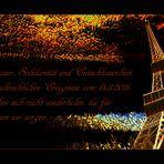 Trauer um die schrecklichen Ereignisse des 13. 11. 2015 in Paris.