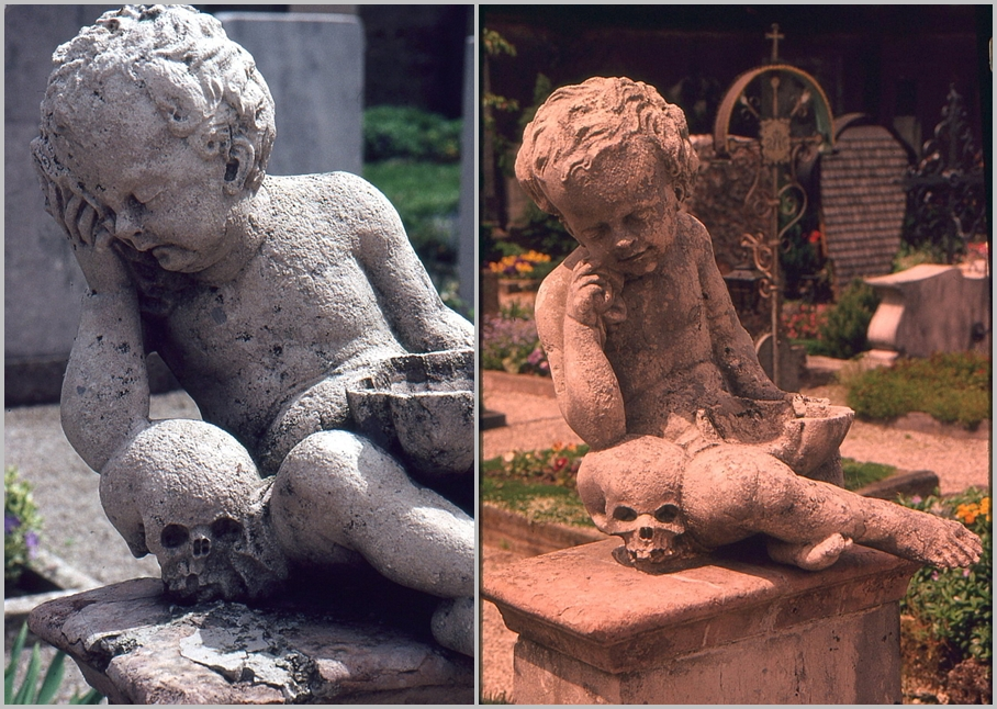 trauernde Putti Friedhof Frauenchiemsee