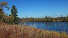 Traumhafte Herbstsonne auch am Dlouhy ryb (langem Fisch)...