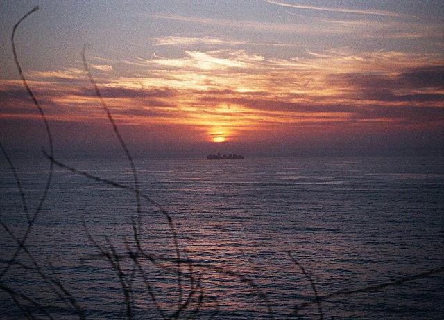 Traumhafter Sonnenuntergang am Pazifik