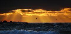 traumhafter Sonnenuntergang an der Ostsee