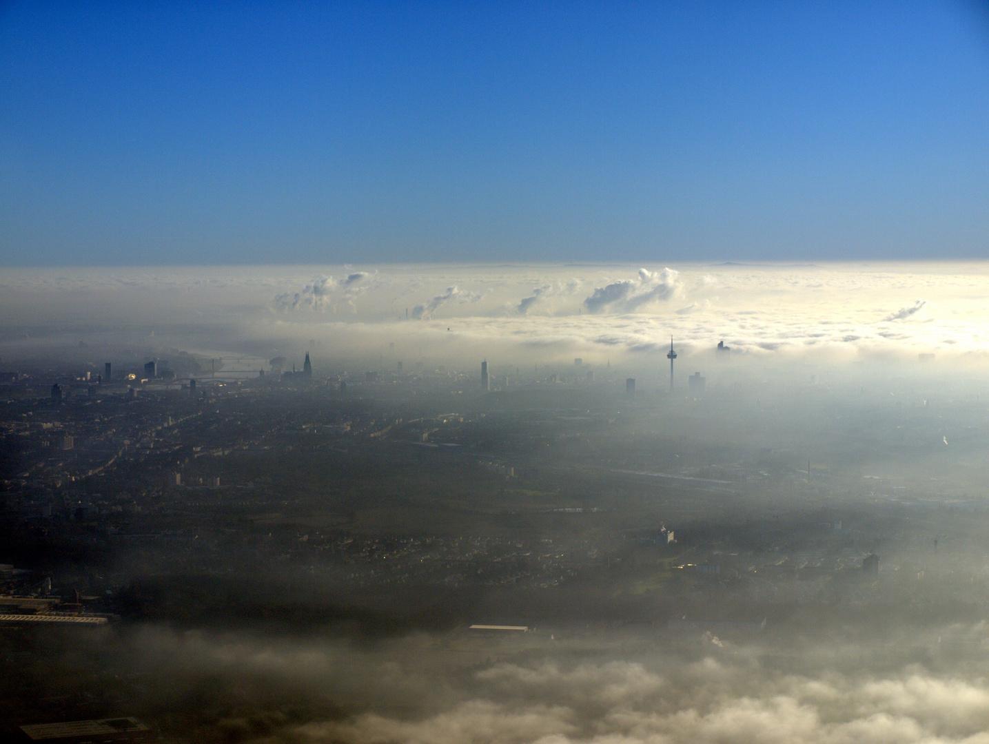 Traumwetter, Köln von Norden