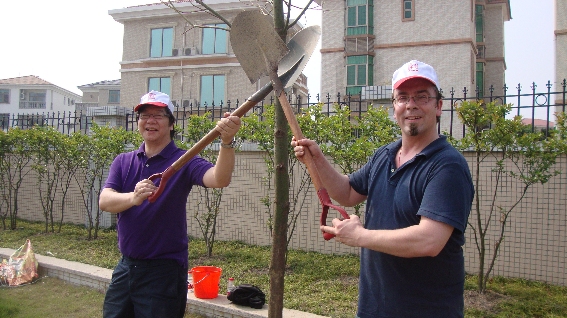 tree planting with foreign affairs office Zhongshan