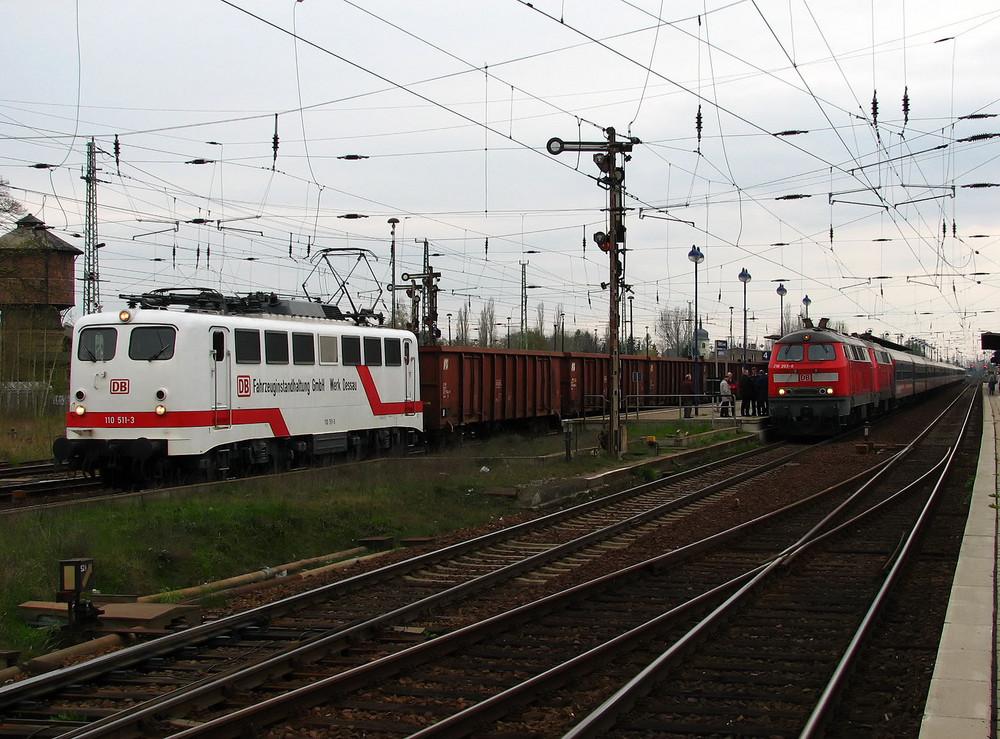 "Treffen 2er ""West""-Lokomotiven im Bhf. Lübbenau"