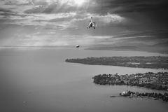Treffen eines Zeppelins über dem Bodensee