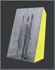 Treffen im Regen