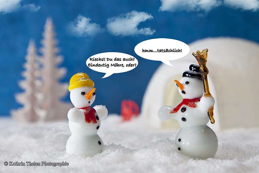 Treffen sich 2 Schneemänner