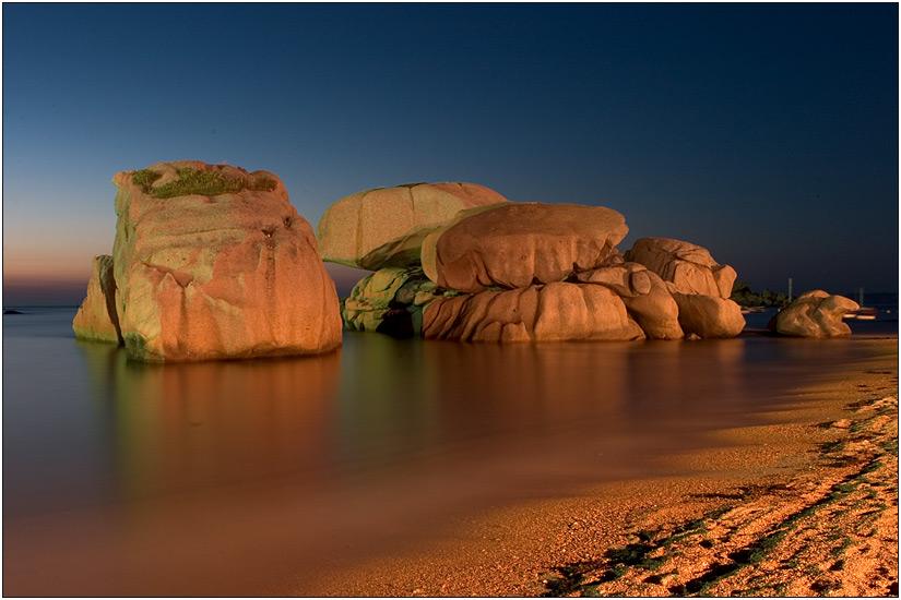 Trégastel - am nächtlichen Strand