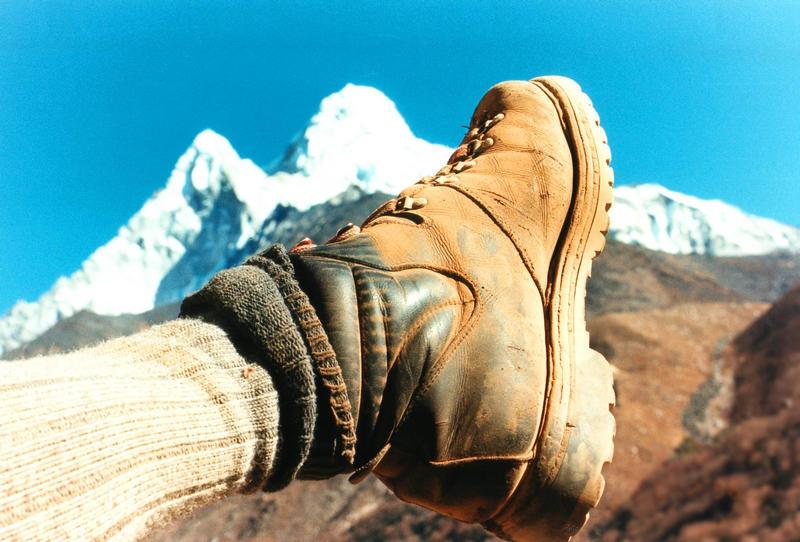 Trekking- Rast im Himalaja