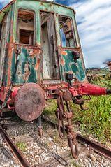 Treno in abbandono
