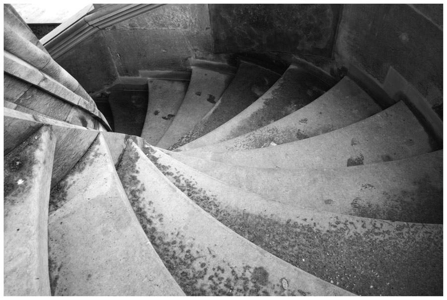 Treppe abwärts...