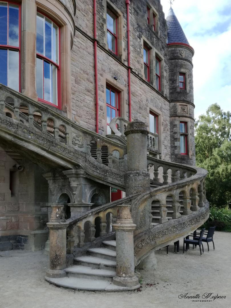 Treppe am Schloss Belfast
