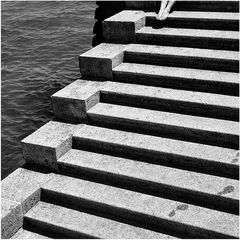 Treppe am See