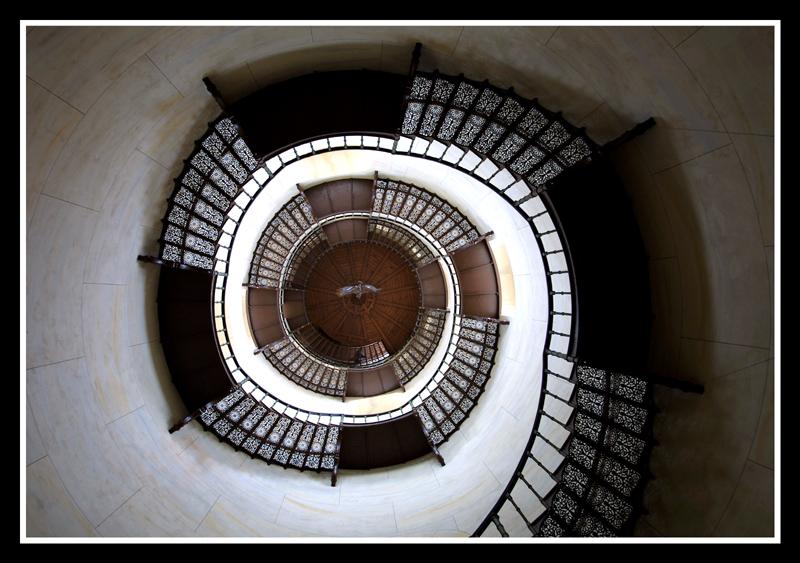 Treppe auf den Turm von Schloß Granitz auf Rügen #2