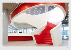 Treppe der neuen Bibliothek