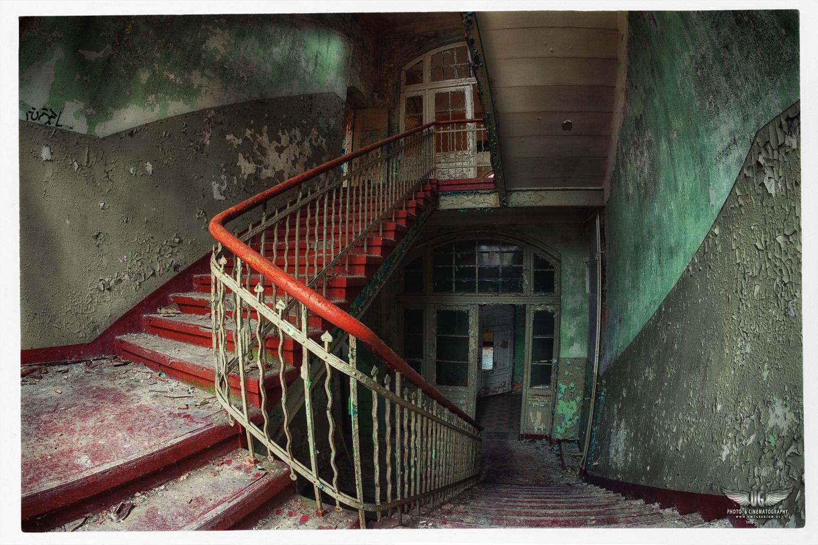 Treppe im Frauenhaus
