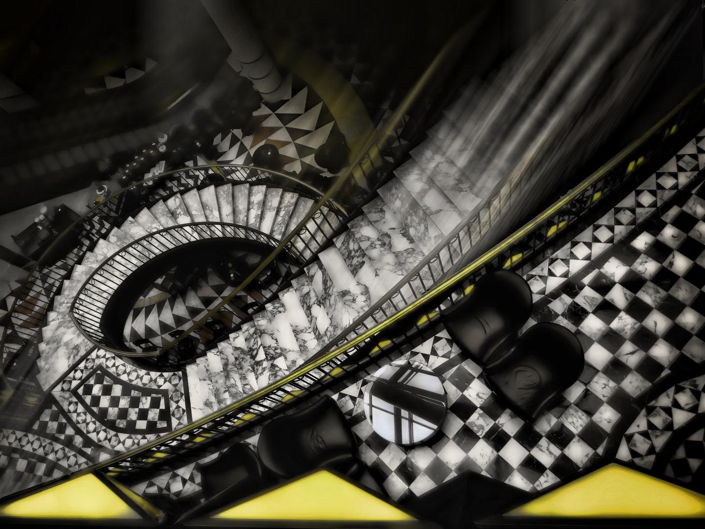 Treppe im Quartier 206