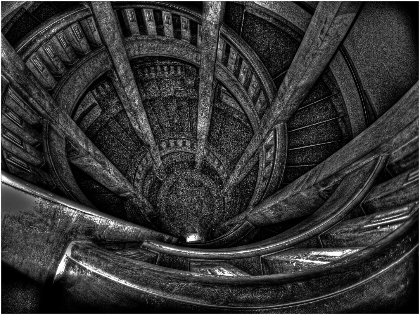 Treppe im Rathaus Hannover ...