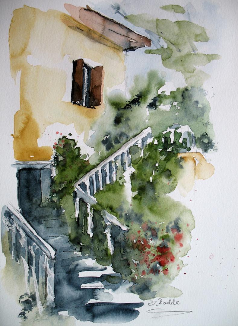 Treppe in Rhodos- Altstadt