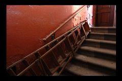 Treppe in Rot