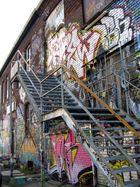 Treppe mit Graffiti