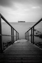 Treppe mit Schiff