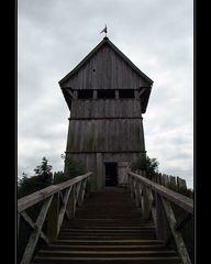 Treppe mit Turm
