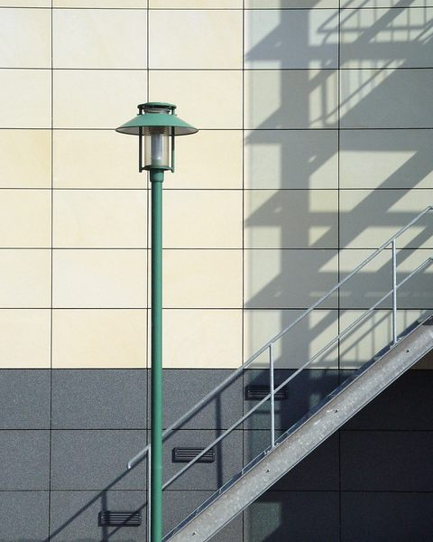 Treppe-Schatten-Laterne