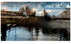 Treppe zum alten Neckar