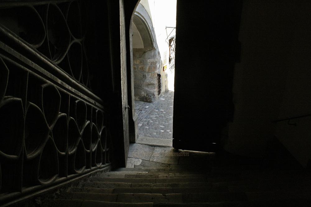 Treppe zum Hof